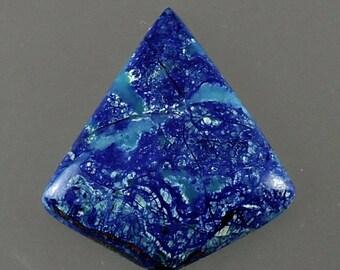 Cabochon d'Azurite Blue Bird, oiseau bleu Azurite Cab, Cab créateur oiseau bleu, pendentif cabine, cadeau Cab, en C2503, fabriqués à la main par 49erMinerals