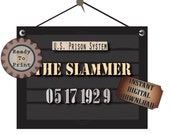 Police Line Up Sign Printable The Slammer 1920s Mug Shot 2 Photo Booth Props Prohibition Speakeasy Roaring Twenties Al Capone Arrest Date