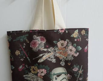 Gift - for - her - star - wars - storm - trooper - clone - trooper - lightsaber - floral - millenium - falcon - lined - bag - purse - tote