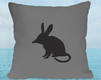 Bilby Cushion Cover in Grey Cotton