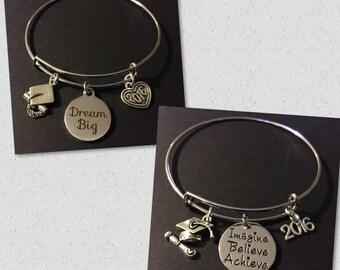 Graduation charm bracelets