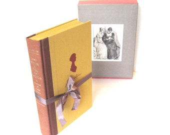 Pride and Prejudice by Jane Austen Vintage  Dutton Edition Illustrated by Isabel Bishop 1976  With Original Slipcase