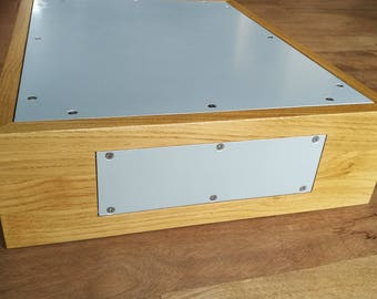 OAK, vintage tube amplifier CHASSIS, DIY amp, wooden enclosure, power box, a case for vacuum retro tubes