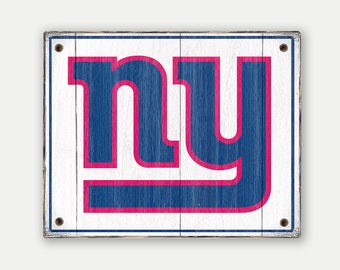 New York Giants sign - Print applied to wood - Giants fan gift - Man cave Boys room Sports Bar decor Fathers Day gift for Dad
