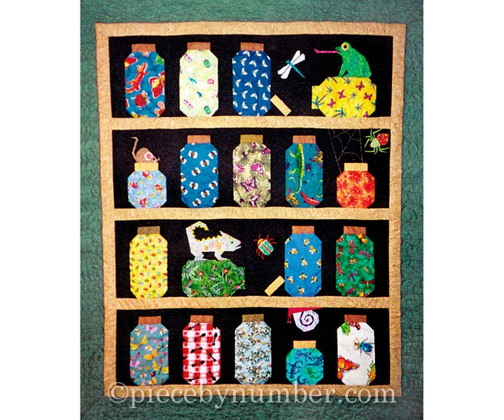 Escaping Bugs Bottle Quilt pattern paper pieced quilt : pieced quilt patterns - Adamdwight.com