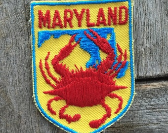 Maryland Vintage Souvenir Travel Patch from Voyager - New In Original Package