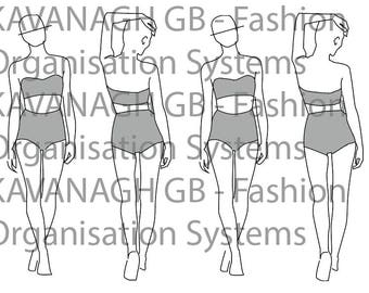 Fashion template, fashion design, fashion figure, fashion design guide - 2