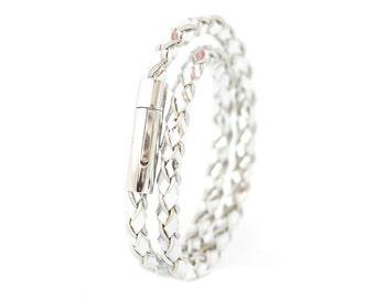 Leather Bracelet Women's Men's Unisex Handmade Unique Bracelets, Designer Bracelet on Sale