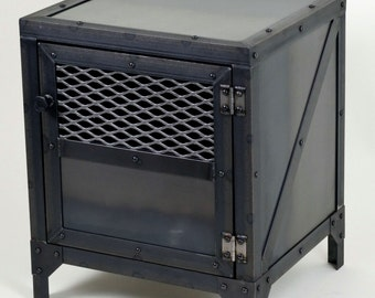 Industrial End Table - Side Table - Night Stand - Storage Cabinet