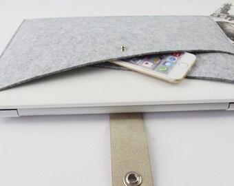 "felt Macbook Pro 15.4"" sleeve, Macbook 15"" sleeve, Macbook 15.4"" case, Macbook Pro case, laptop case, Laptop sleeve macbook sleeve ZMY026LG"