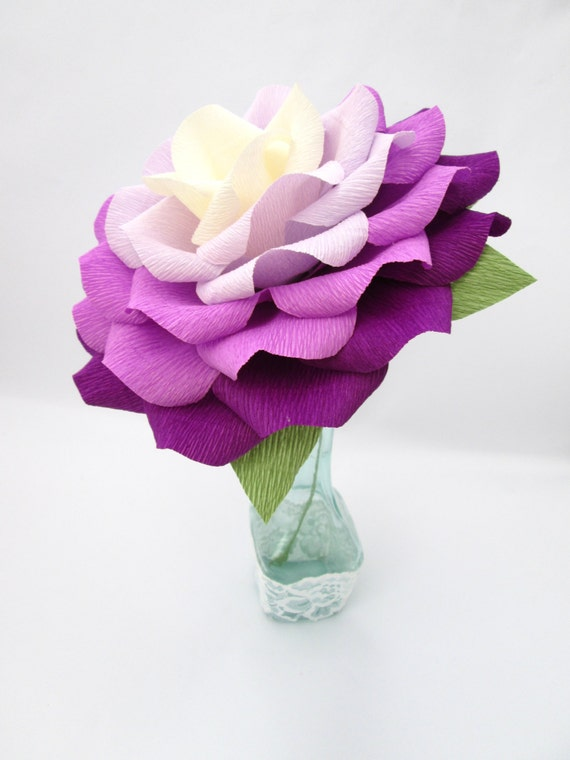 Giant Paper Flower/ Ombre Paper Rose/Wedding