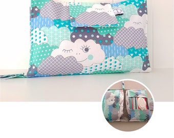 Clouds Nappy Wallet with wipes pocket