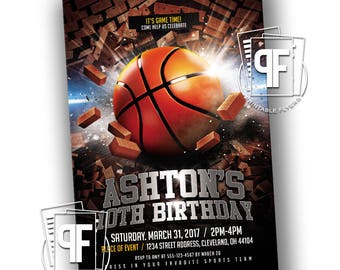Basketball Birthday Invitation - Basketball Birthday - Sports Birthday Party - Basketball Party - Basketball Birthday Party