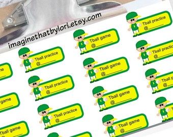 Tball planner stickers