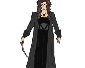 Bellatrix Lestrange - Harry Potter card