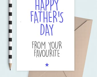 From you're favourite Father's Day card