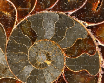 Ammolite Zen Puzzle - Hand crafted, eco-friendly, American made artisanal wooden jigsaw puzzle