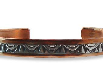 Native American Copper Silver Cuff Bracelet,Copper Bracelet,Cuff Bracelet,Copper Silver Bracelet,Handmade Bracelet,Vintage Copper Bracelet