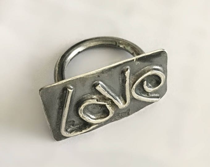 Sterling Silver Funky Love Ring