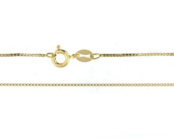 20 inch 14K GOLD Filled 1.2 mm Box Chain - Finished and READY To WEAR with Spring Clasp