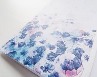 Flower card, happy birthday card, birthday card, pretty greeting card, birthday card for friends