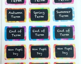 school/teacher sticker sheet
