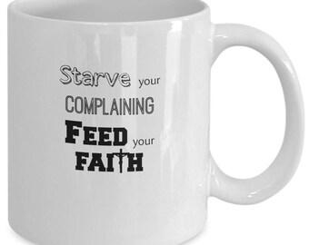 Feed Your Faith Christian Coffee Mug