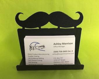 Mustache Desktop Business Card Holder