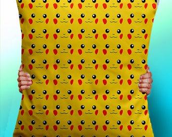 Pikachu Face Pattern pokemon - Cushion / Pillow Cover / Panel / Fabric