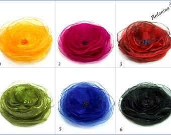 Brooch in Favorite color flower brooch Choose a colour brooch