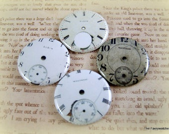 Realistic Watch Face Magnets, Old Watch Face Pins, Clock Face Flatbacks, Cabochons, Faux Watch Face, Victorian Clocks, Steampunk Clocks