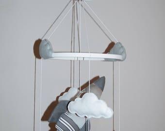 space baby mobile etsy. Black Bedroom Furniture Sets. Home Design Ideas