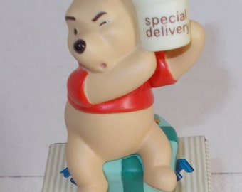 """Pooh Porcelain Figurine """"Newborn"""" 100 Acre Woods Series...Collectible"""
