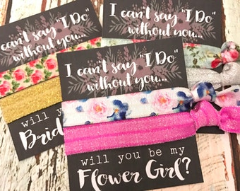 Will you be my Bridesmaid | Bridesmaid Proposal | Bridesmaid Hair Tie  Favors | To have and to hold your hair back | Chalkboard Wedding