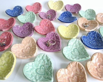 """Unique Bridal shower favors, heart baby shower favors, 2.5"""" heart dish, wedding favors, thank you gifts"""