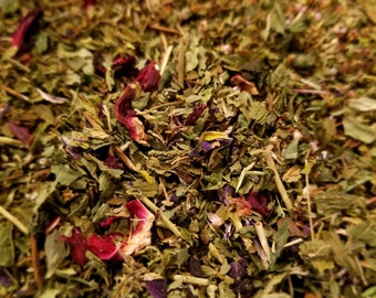 Herbal Goddess - Bring out the Goddess in you - Herbal Blend, Tisane, Nettle, Spearmint, Hibiscus, Butterfly Pea Flower, Heather