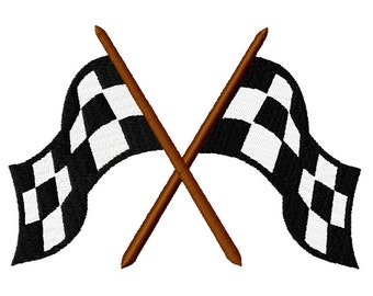 Checkerd Flags Fill Embroidery Design file sizes included 3,4,5,6,7 inches  Instant Download
