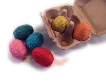 Colorful Jute Easter Eggs