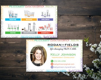 PERSONALIZED Rodan and Fields Business Cards with Photo, Fast Personalized, Rodan Fields Independent Consultant, Modern Business Cards RF14