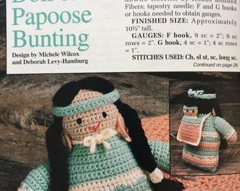 Pdf 1992 vintage crochet indian doll pattern.