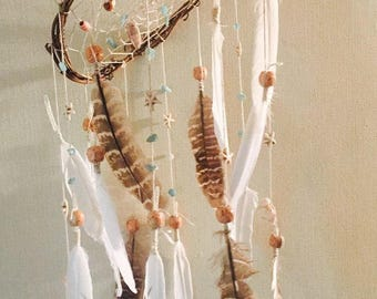Baby dreamcatcher Native America Boho Dreamcatcher Dream catcher with  Shells Feather decor Indian talisman gift