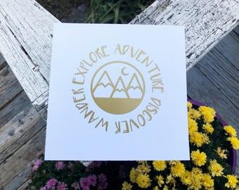 Explore Adventure Discover Wander Vinyl Decal