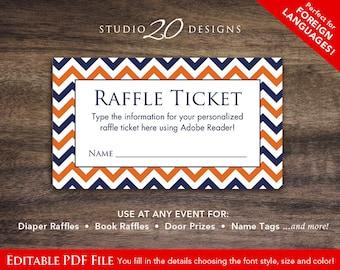 raffle custom ticket etsy