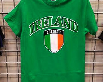 Ireland-Soccer T-Shirt Irish Eire Flag Green S-3XL Youth Sizes