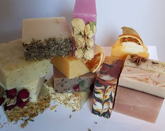 Handmade cold processed soaps By The Perfume people. Any 4 for 12.00