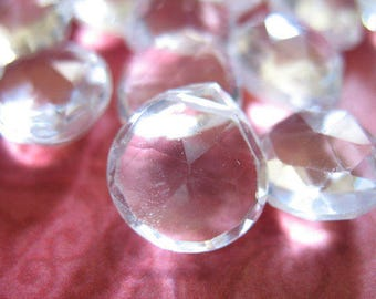 Rock CRYSTAL / Quartz Heart Briolettes / Luxe AAA / 11-13.5 mm / Large / Clear / brides / bridal / april birthstone 1113