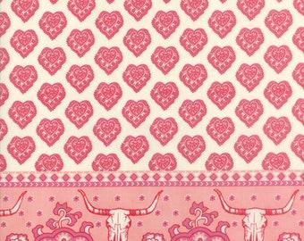 Spellbound Skull Double Border in Soul Pink,  Urban Chiks, 100% Cotton, Moda Fabrics, 31110 12