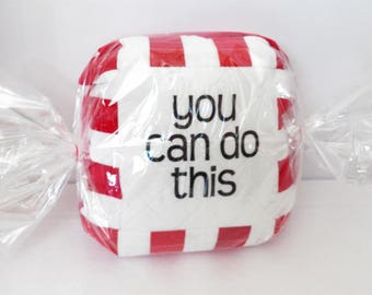 "Encourge""Mint"" Quilted Pillow 