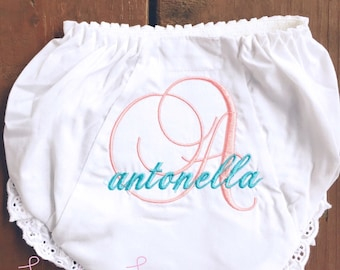 Monogrammed Personalized Ruffle Bloomers