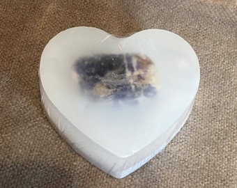 Crystal Soap Bar, Sodalite Soap Bar, Sandalwood Soap Bar